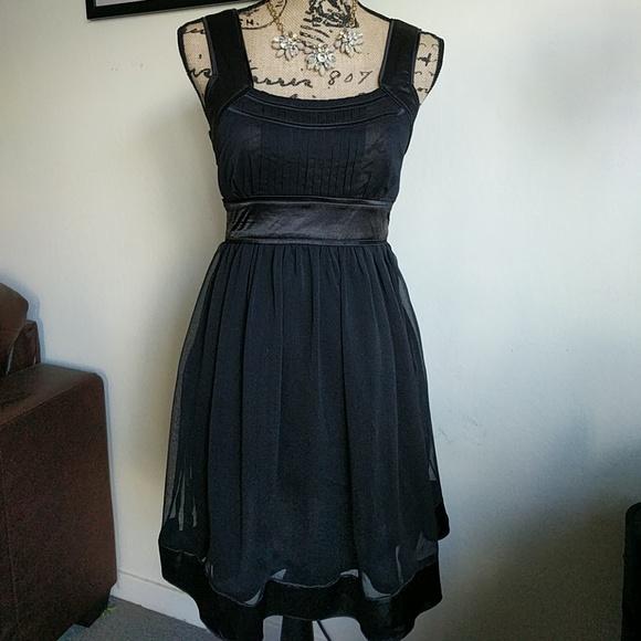 Black Empire Waist Cocktail Dresses